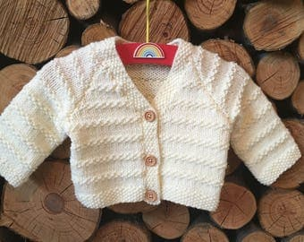 Cream Newborn Baby Cardigan