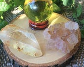 Reserved - Sphere, Quartz point and Ametrine cluster