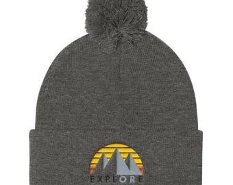 ExplORe - Pom Pom Knit Cap