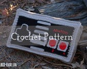 CROCHET PATTERN Classic Video Game Controller Pillow   For Nerds   Gamers   Bedroom   Gaming   Bed   For Him   Gifts   Buttons   Retro