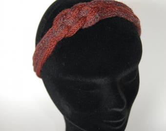 fashionable 56 knitting bordeaux and Burgundy shiny sailor knot headband