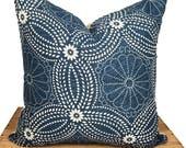 """Indian Block Print Pillow Cover Indigo 18"""""""
