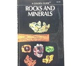 Vintage Golden Nature Guide- Rocks and Minerals / Golden Guide on Rocks / Vintage Field Guide / Book on Crystals / Homeschool Book