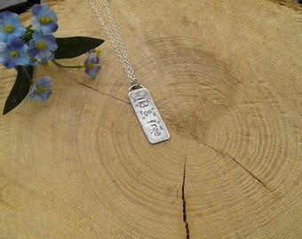 Sterling silver Wild and free necklace