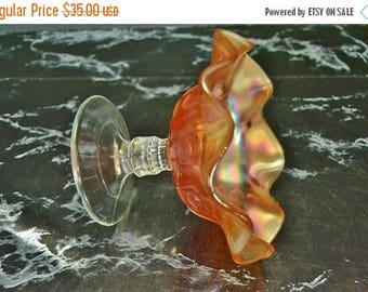 On Sale Marigold Carnival Glass Candy Dish - Dugan Glass Coin Spot