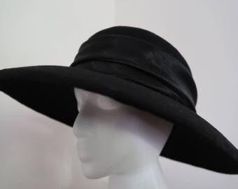 Wool covered Buckram Hat