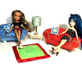 Barbie Bratz Custom Made Furniture Living Room Set