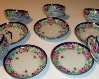Five Vintage Antique Unmarked Cup & Saucer Sets