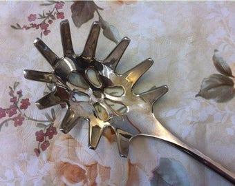 Silver Plated Spaghetti Pasta Server  Spoon. Kitchen Tools.