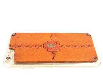 Leather iPhone X Case | Southwestern Thunderbird / Eagle