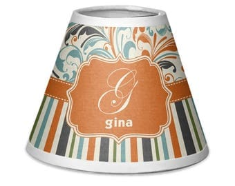 Orange Blue Swirls & Stripes Chandelier Lamp Shade (Personalized)