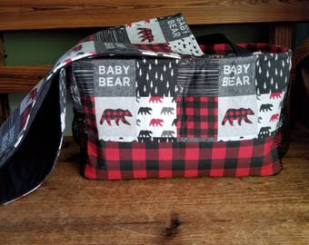 Baby Bear Diaper bag and changing pad