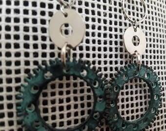 Steampunk Influenced Dangle Earrings