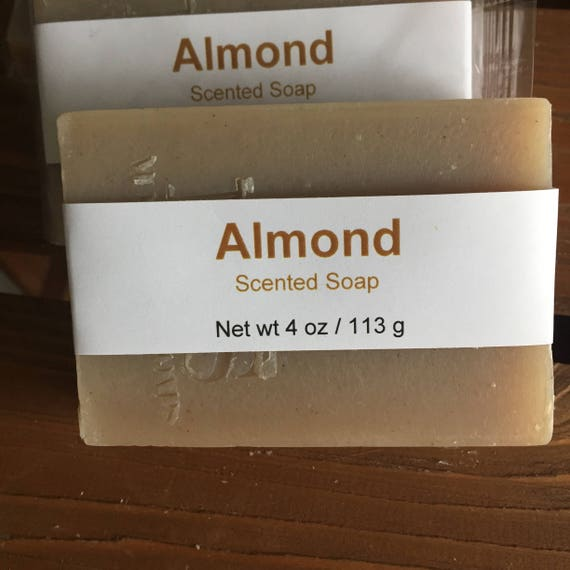 Almond Scented Cold Process Soap with Shea Butter