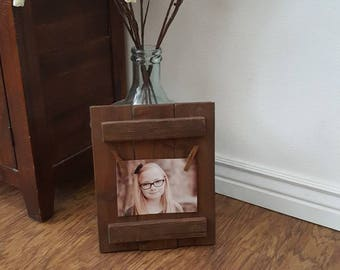 Homemade Rustic Wood Frame 4x3 or 5x7 picture