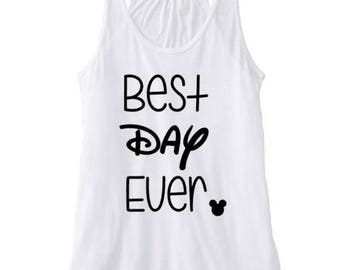 Best Day Ever Tank, Disney Fan tank, Disney World tank, Disney tank, Tangled tank, Rapunzel tank, disney womens tank
