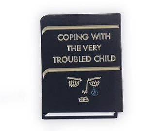 Coping With The Very Troubled Child enamel pin! Wes Anderson, Moonrise Kingdom inspired