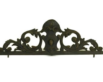 Above Door Decor. French Furniture Pediment.  Antique French Architectural Salvage.