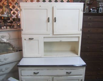 Attractive Vintage Hoosier Cabinet , Kitchen Cabinets, White Cabinet, Kitchen Furniture,  Hutch, China