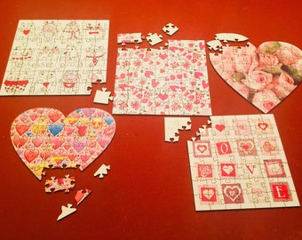 Blank Heart-Shaped Puzzle | Hearts | Lasercut | Valentines Day | Mothers Day | Fathers Day
