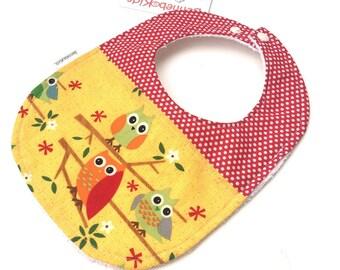 Baby Owl Bib - Baby Girl Bibs - Girl Baby Shower - Unique Baby Gift - Gift For Niece - Gift For New Mom - Baby Bibs - Toddler Bibs - 28
