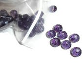 Purple Czech Beads 30ct Czech Glass Beads Purple Crystals Purple Rondelles Purple faceted beads Crystal Glass Beads 10mm Czech crystals bead