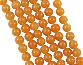 10 x 6mm Orange Aventurine round beads