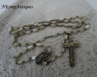 Shell rosary Mother of pearl 1930's