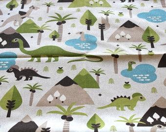 Fabric upholstery dinosaurs 70 x 50 cm