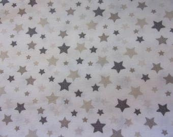 fabric star white and grey 50 * 70 cm