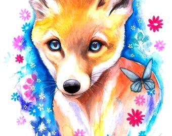 Fox- signed Art Print