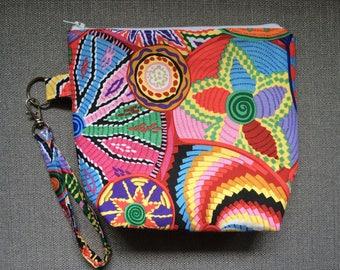 small project bag--colorful African baskets