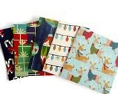 12 mini cards - 3 x 3 inch - Christmas themed handmade cards - Blank cards - Seller mini thank you card -  Lunchbox cards - gift bag cards.