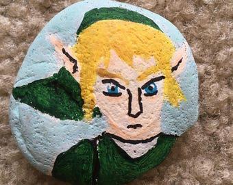Painted Rock - Link - Legend of Zelda