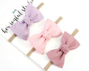 Baby Headband, Bow Headband Set, Baby Bow Headband, Fabric Bow Headband, Baby Accessories, Baby Headband Sett, Baby Girl. Hugs and Kisses