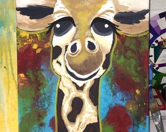 Jimbo Giraffe, Giraffe Painting, Giraffe