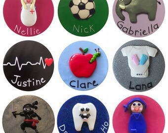 Personalised Fimo Name Badges - Work/Kids