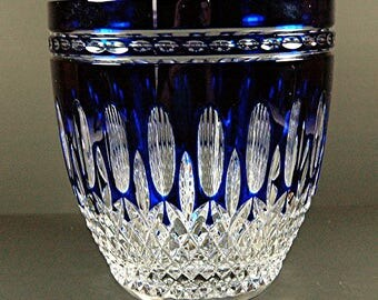 Waterford Crystal Clarendon Cobalt Blue Ice Bucket RARE
