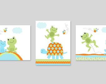 Frog Nursery Art, Baby Boy Nursery, Boy Wall Art, Frog Nursery Decor, Turtle Nursery, Nursery Art Prints, Frog Wall Art, Baby Boy Decor
