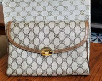 Rare Vintage Gorgeous 3 way Gucci Brown Cross body, Shoulder or Clutch purse