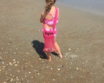 Seashell bag, Sea Shell Bags, Kids Mesh Beach Bag, Personalized Shell Collecting Bag, Kids Tote, Beach Bag