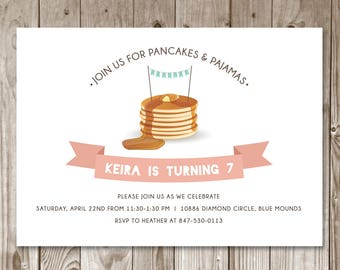 Pancakes & Pajamas Invitation