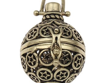 Star Angel Caller Bola Harmony Pendant - Antiqued Bronze