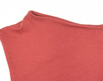 sleeveless comfortable tshirt in organic cotton