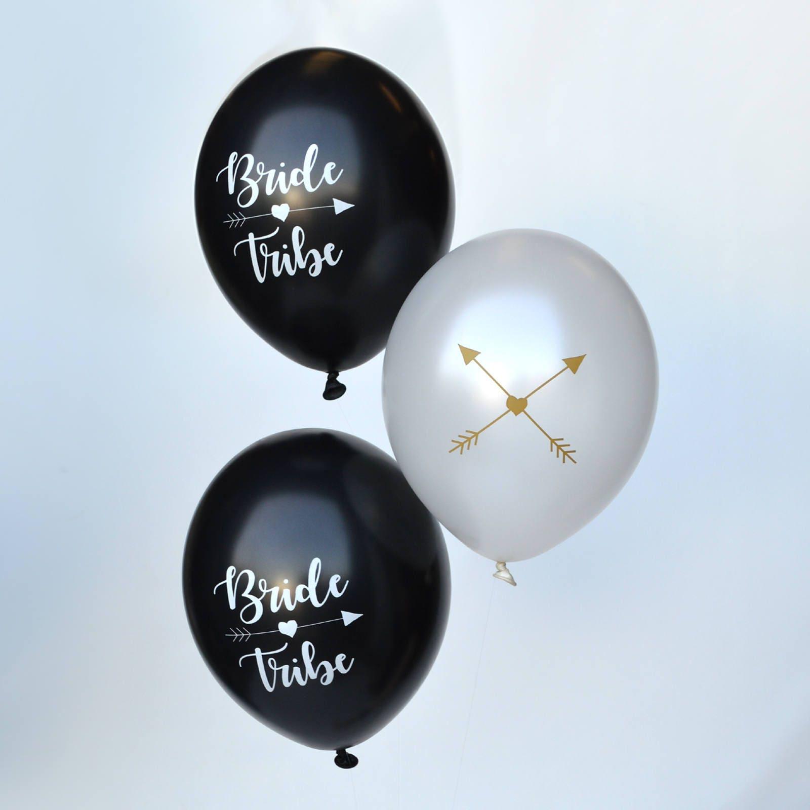 Bride Tribe Hen Party Balloons Hen Night Balloons Black
