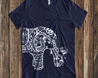 Ethnic Elephant  Print  Men's T-Shirt