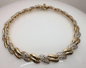 Vintage Sterling silver vermeil bracelet