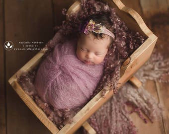Newborn Photography Bed | Newborn Photo Prop, Newborn Bed Prop, Bed Photography Prop, Baby Cradle, Doll Cradle