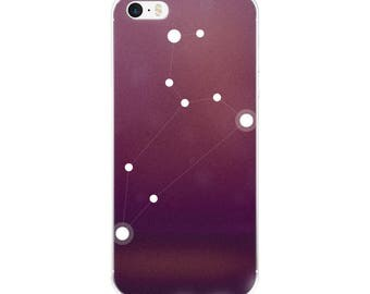 iPhone 5/5s/Se, 6/6s, 6/6s Plus Case - Zodiac Leo Constellation iPhone Case