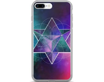 iPhone 7/7 Plus Case - Space Geometry Purple Triangles 1 iPhone 7 Case